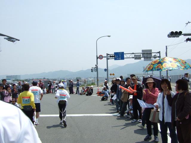徳島マラソン 西条大橋南詰め.JPG