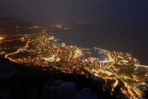 モナコ夜景 ラ・テット・デ・シアン モナコ公国 .jpg