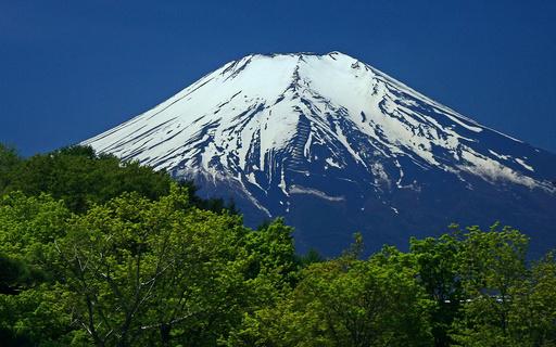 新緑と富士山 忍野 山梨.jpg